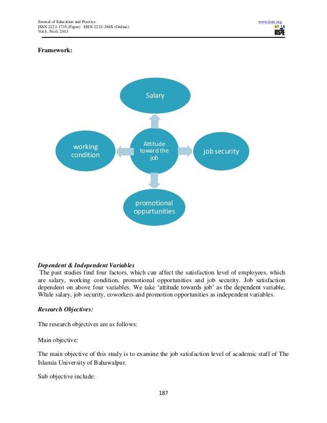 factors affecting job satisfaction