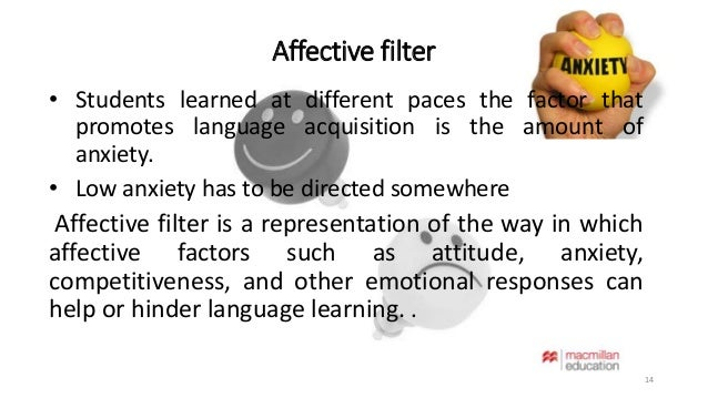 affective filter hypothesis Tsl 4320: class 5 tsl 4320: class 5 agenda the input hypothesis 3 3 the affective filter 4 4 the natural order hypothesis 5 5 the monitor acquisition vs.