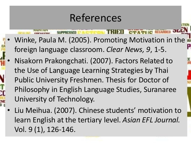 language learning strategies thesis Gives thesis and overview  body paragraphs give details   effective learning strategies 8 change study tasks every hour or so alternate tasks that require.