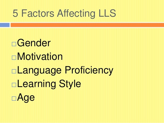 factors affecting learning This poster reports results of a survey conducted recently at a canadian business  school concerning factors affecting student learning outcomes of information.