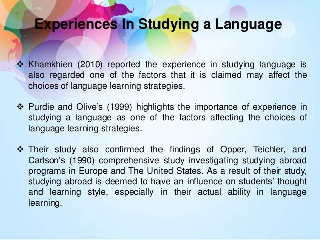 dissertation language learning strategy Learning strategies in the classroom  foreign language vocabulary,  to use the concept mapping strategy for learning ideas in these paragraphs,.