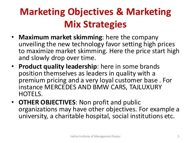 Factors affecting price decisions for Mercedes benz marketing mix