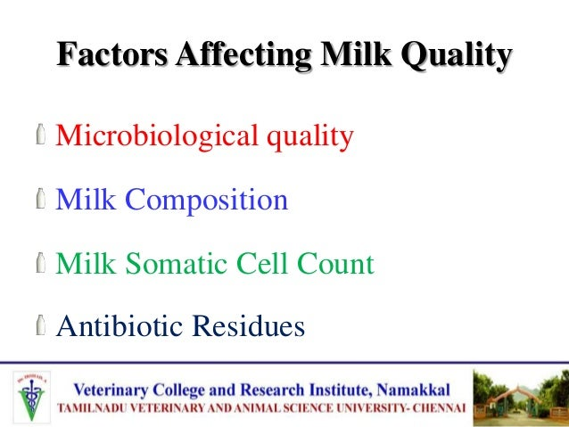 Factors Affecting Microbiological quality of Milk