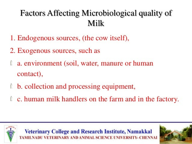 Factors Affecting Milk Composition In cattle, fat is the most variable component while minerals and lactose are the least ...