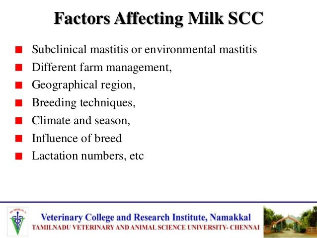 Factors affecting quality and quantity of milk in dairy cattle