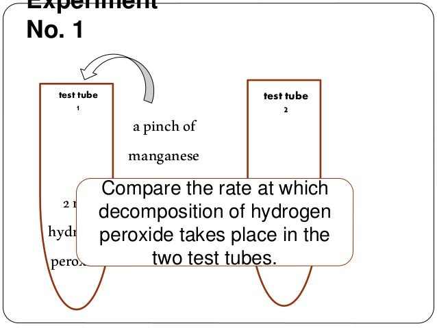 factors affect the rate of the decomposition of hydrogen peroxide essay Hydrogen peroxide to water and oxygen and oxygen production was used  that can affect enzyme  the rate of the enzyme activity is high because substrates.