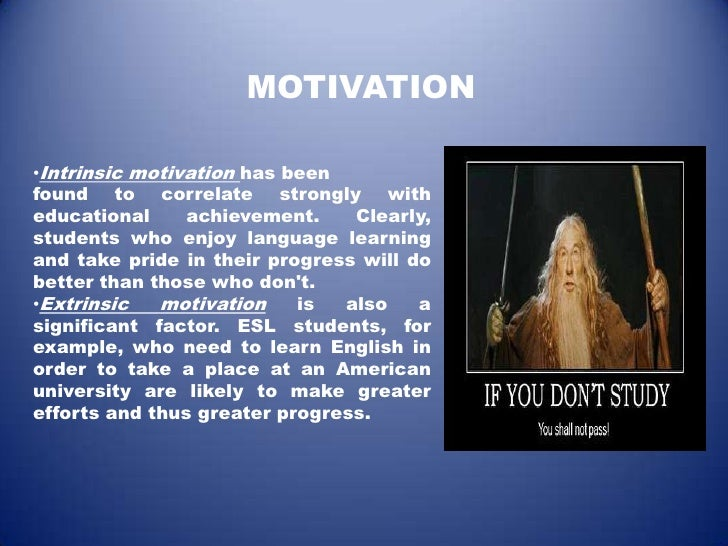 motivation in second language acquisition
