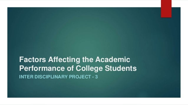 Factors That Affect Student Performance