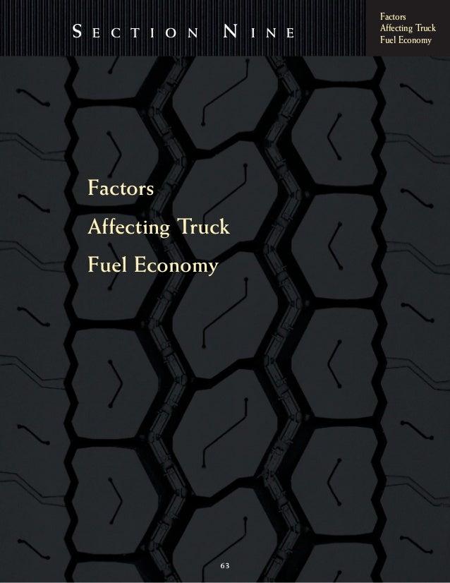 FactorsAffecting TruckFuel EconomyS E C T I O N N I N E63FactorsAffecting TruckFuel Economy