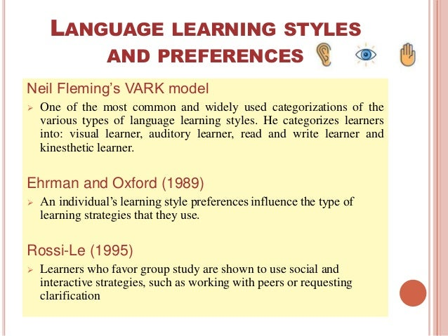 vark learning styles reference neil fleming The vark model of learning styles is one of the most popular  about com http://www ehow com fleming, neil copyright 2001-2011, vark:  vark analysis vark.
