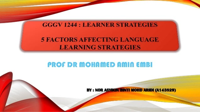 PROF DR MOHAMED AMIN EMBI  BY : NOR ASYIKIN BINTI MOHD ARIDI (A143829)
