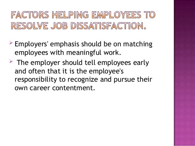 factors determining job satisfaction of employees Factors affecting employee satisfaction of the to know about the factors that affect the satisfaction job employee satisfaction as simply how people.