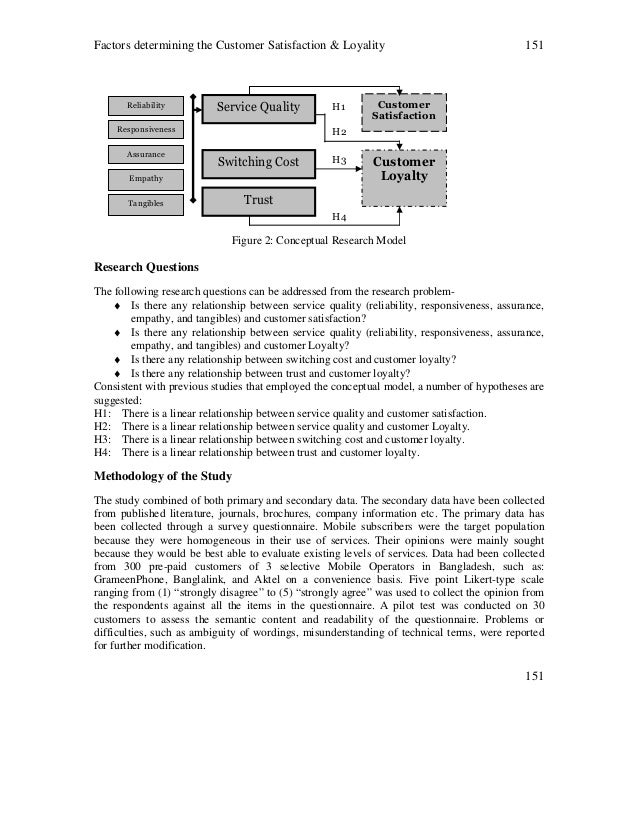 research proposal on customer satisfaction in telecommunication