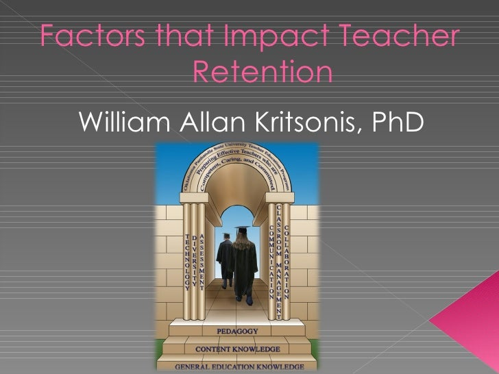 Factors that Impact Teacher Retention <ul><li>William Allan Kritsonis, PhD </li></ul>
