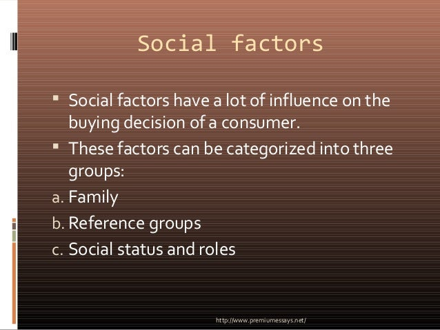 """psychological factors that influence the purchase This is """"psychological factors that affect people's buying behavior"""", section 34 from the book marketing principles (v 10) for details on it (including licensing), click here."""