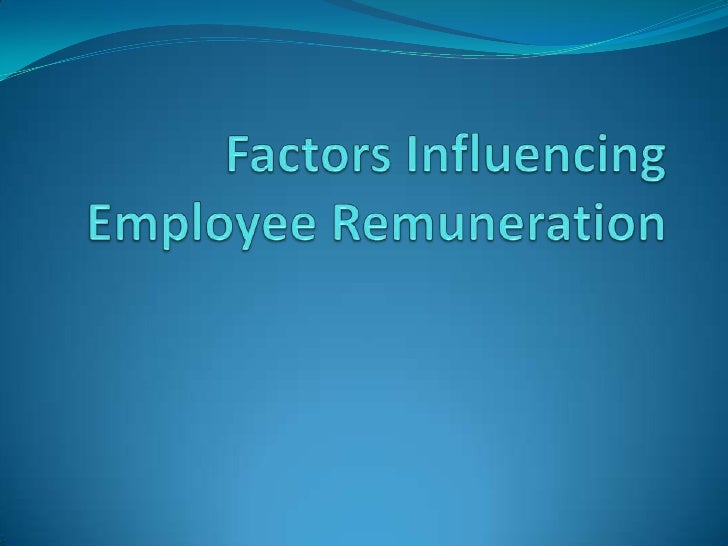 Factors Influencing Employee Remuneration <br />