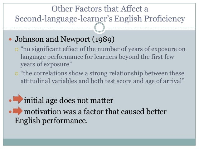 factors that can influence or impede the acquisition of a second language Social factors in second language acquisition posted on february 20,  specific social factors that can affect second language acquisition include age, gender, social class, and ethnic identity  negative attitudes can impede learning however, if learners have a strong reason for learning, negative attitude can have a positive.