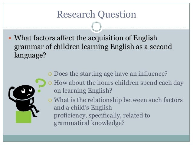"factors influencing the second language acquisition Thirdly, language aptitude is the last factor affecting second language acquisition the writer discusses in this essay caroll (1981, cited in ellis, 1999:490) mentioned that ""general aptitude as capability of learning a task, which depends on some combination of more or less enduring characteristics of the learner."