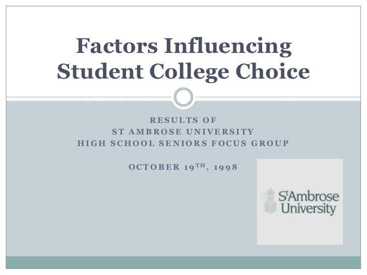 Factors affecting career choice of college students