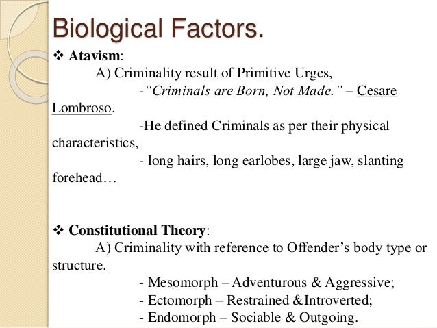 factors contributing to crime