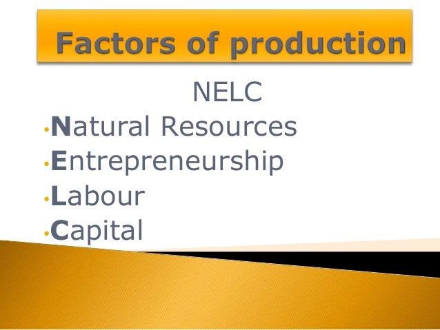 the economy and the factors of production The economys factors of production are not equally suitable for producing from micro 2106 at georgia state.