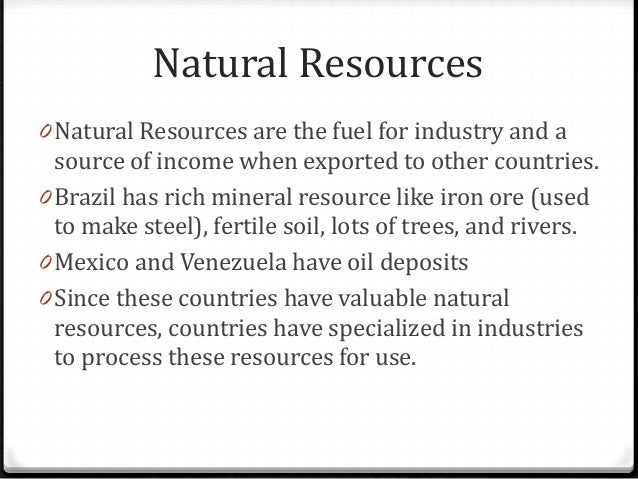 How Does Brazil Use Their Natural Resources