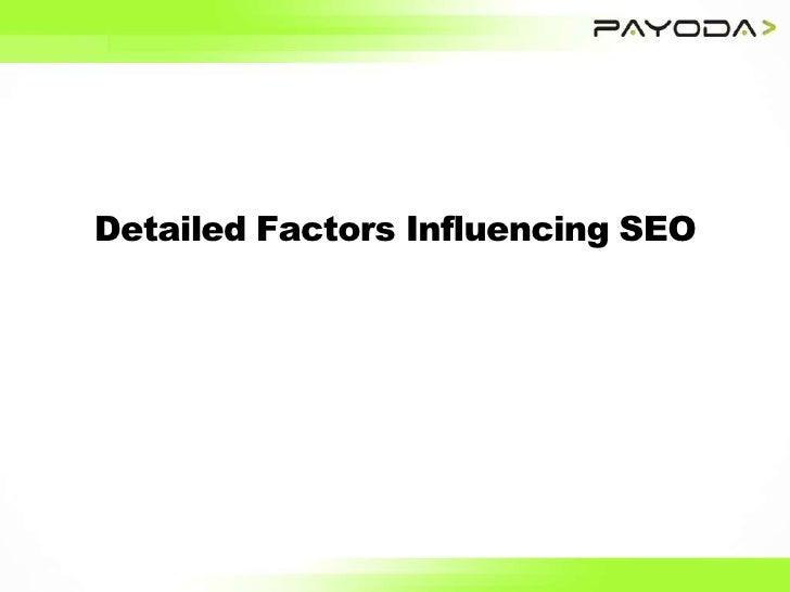 Detailed Factors Influencing SEO<br />