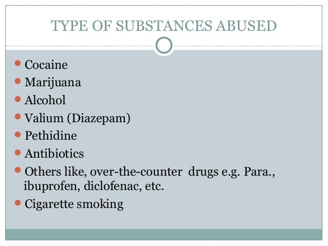 Factors of substance abuse at