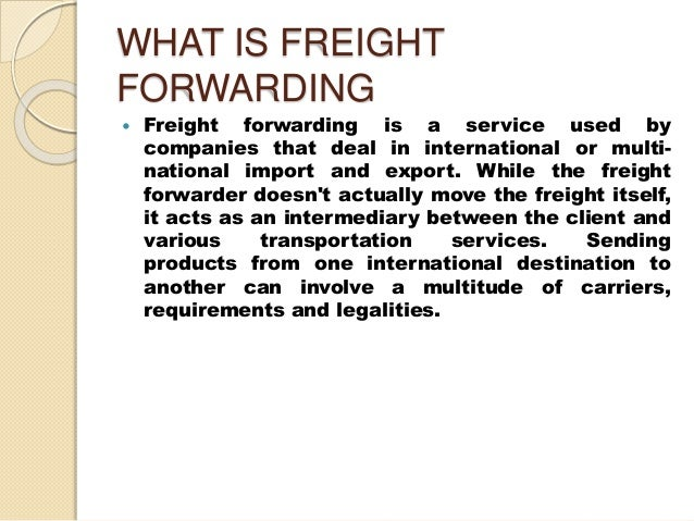 What Is Freight Shipping >> Factors Related To Freight Forwarding In Logistic Company And Supply