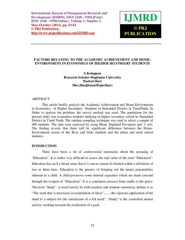 InternationalJournal ofof Management Research andInternational Journal Management Research and Development (IJMRD), ISSN 2...