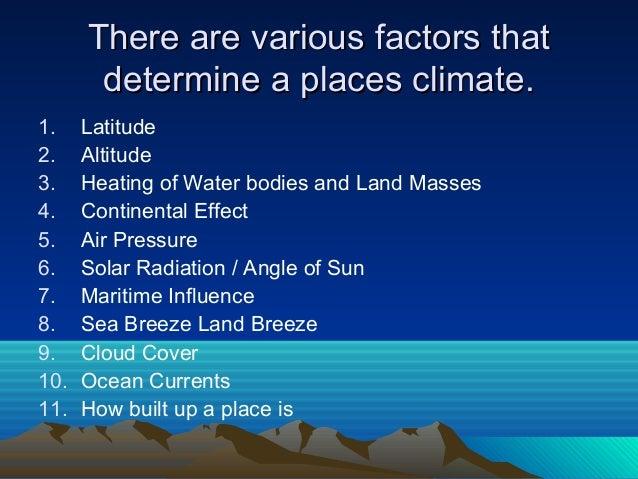 BBC - GCSE Bitesize: Factors affecting climate