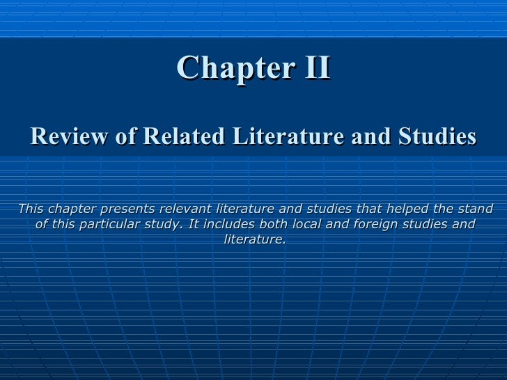 What is a foreign and local review of related literature?