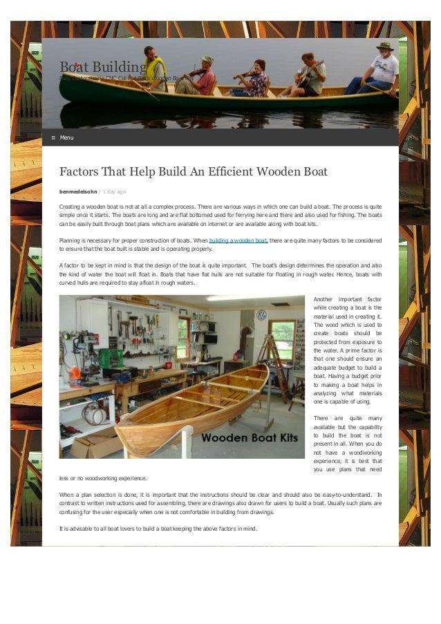 best wooden boat building school