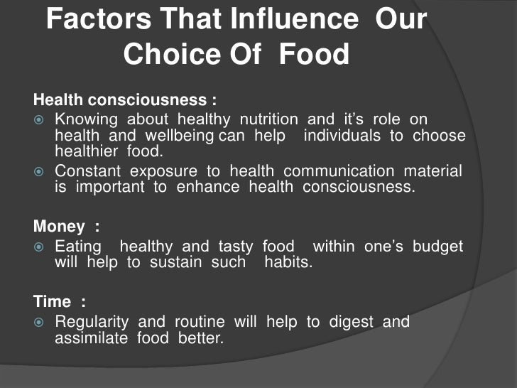 factors influencing eating habits pdf
