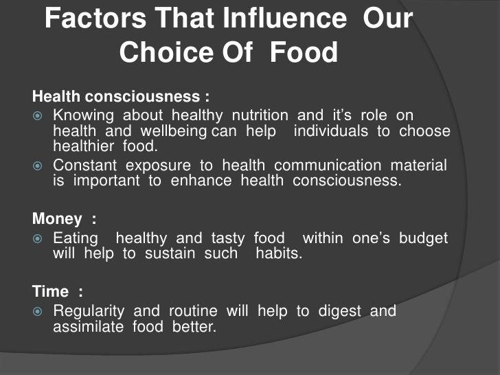 factors influencing eating habits pdf