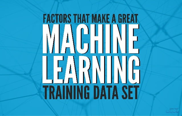 Machine Learning (ML) is a process of induction.
