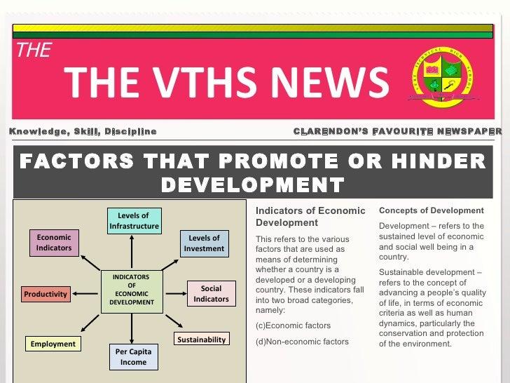 Factors that promote or hinder development
