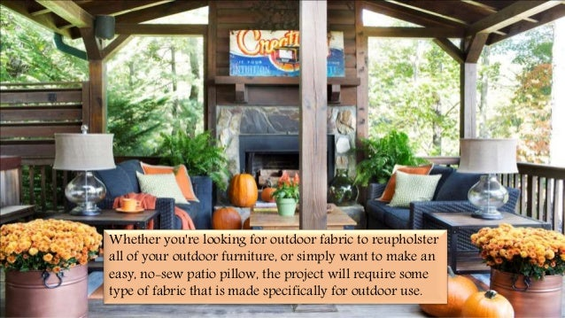 factors to consider when choosing outdoor upholstery fabrics