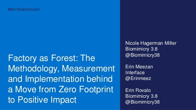 #sb18vancouver Factory as Forest: The Methodology, Measurement and Implementation behind a Move from Zero Footprint to Pos...