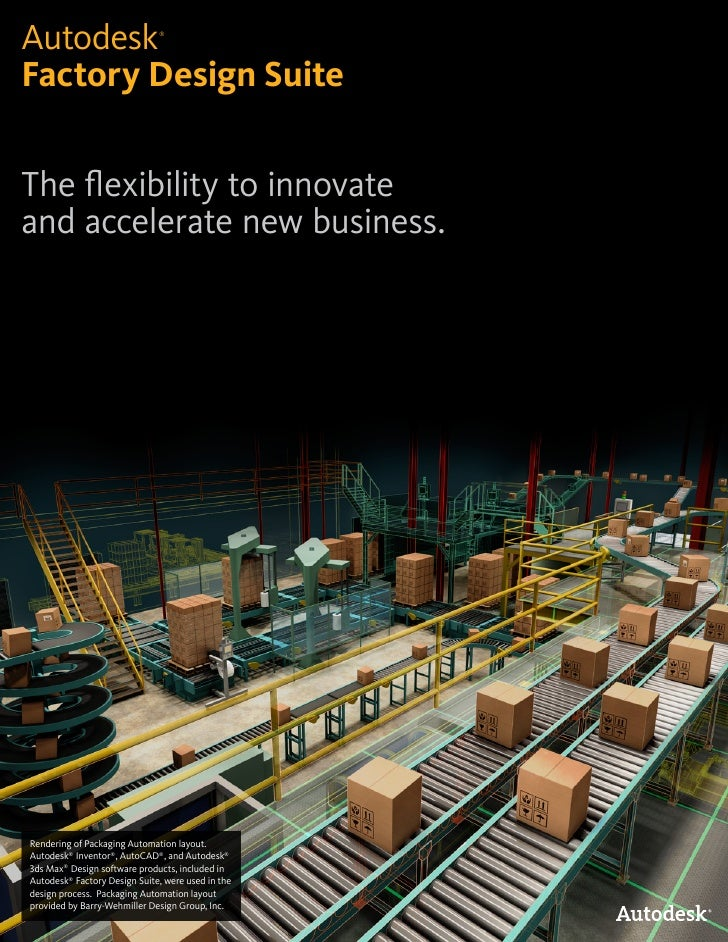 Autodesk                      ®Factory Design SuiteThe flexibility to innovateand accelerate new business.Rendering of Pac...
