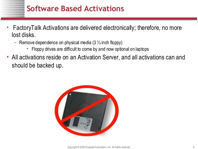 how can i lose activation key of rockwell software