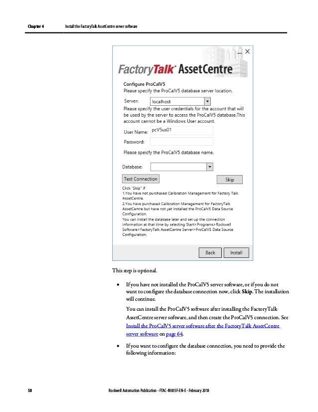 Factory talk assetcentre installation guide
