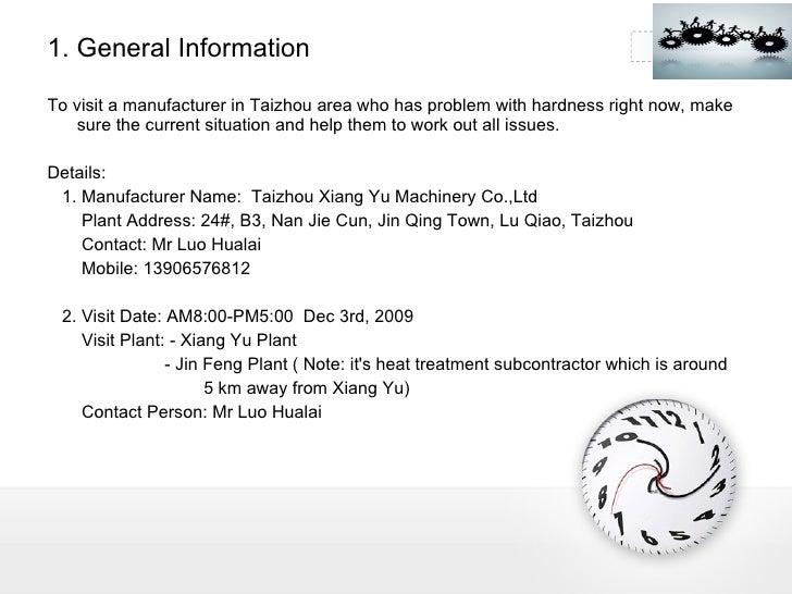 factory visit report pdf
