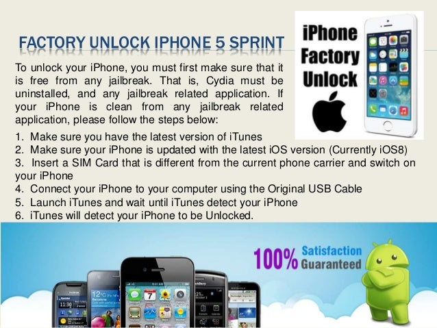 how to factory unlock iphone 5 factory unlock sprint iphone 5 18795