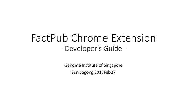 FactPub Chrome Extension - Developer's Guide -