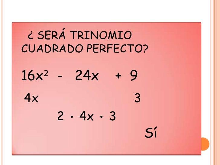 Lujoso Factorizar Trinomios Perfecta Hoja Cuadrada Elaboración ...