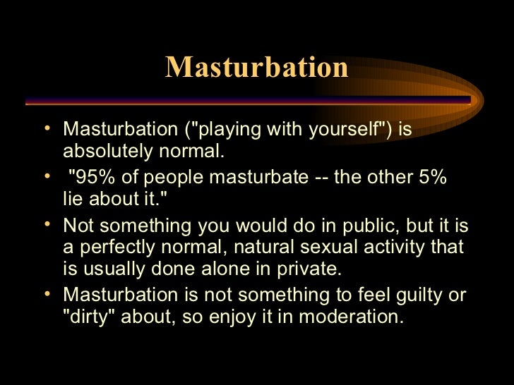 Boys should not masturbate