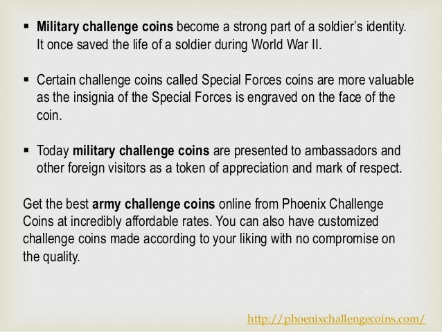 Facts about army challenge coins