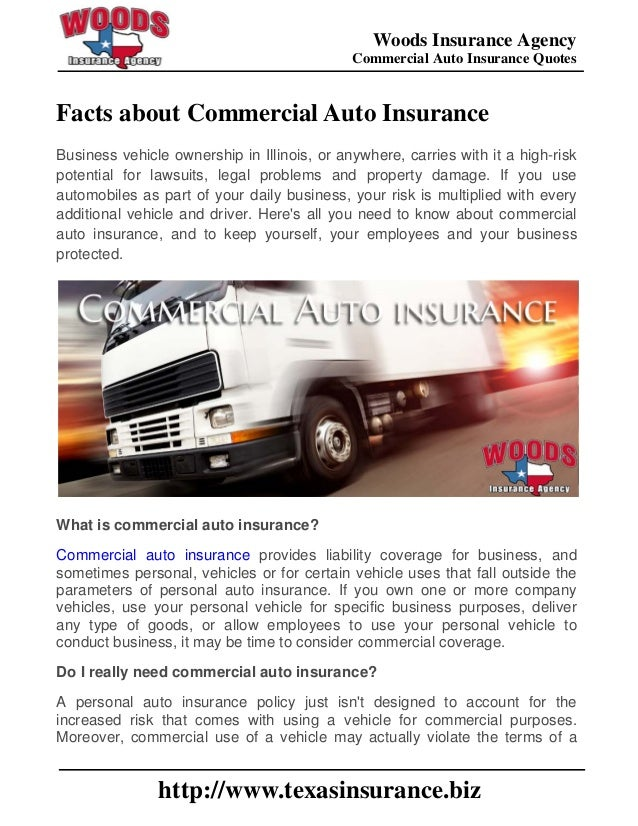 607ba2dcd8 Woods Insurance Agency Commercial Auto Insurance Quotes  http   www.texasinsurance.biz ...