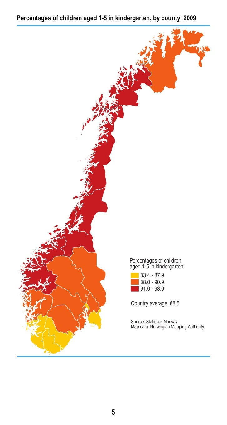 Facts About Education In Norway - Norway map counties